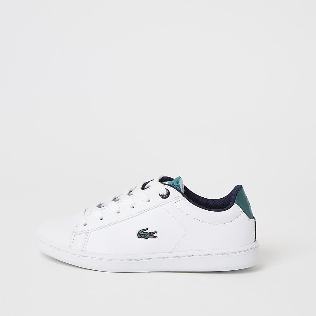 Lacoste - Witte sneakers met vetersluiting voor jongens