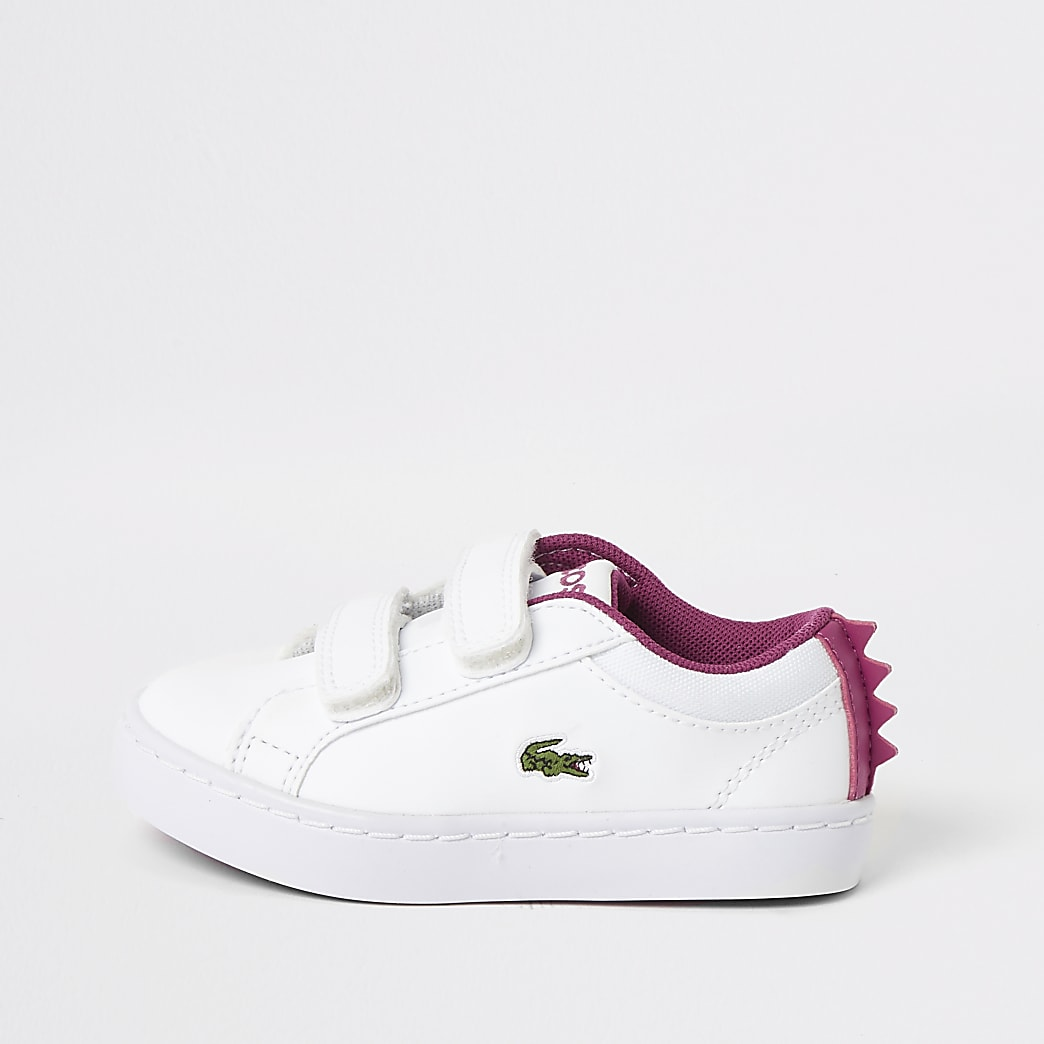 Mini – Weiße Monster-Sneakervon Lacoste für Mädchen