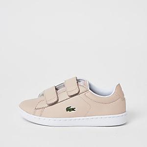 Lacoste – Baskets roses à velcro pour fille