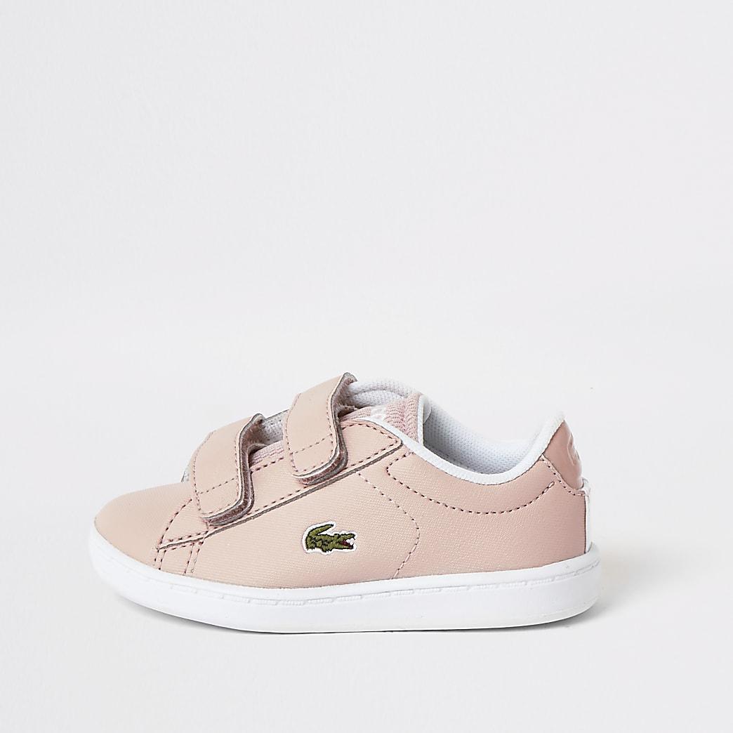 Mini – Velcro-Trainer von Lacoste für Mädchen in Pink