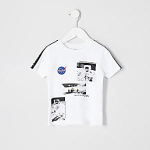 Mini - Wit T-shirt met 'NASA'-print voor jongens