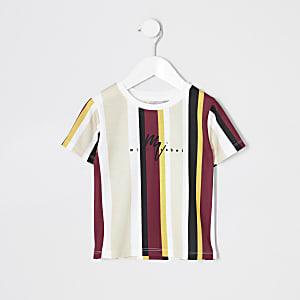 Mini - T-shirt met gele strepen voor jongens