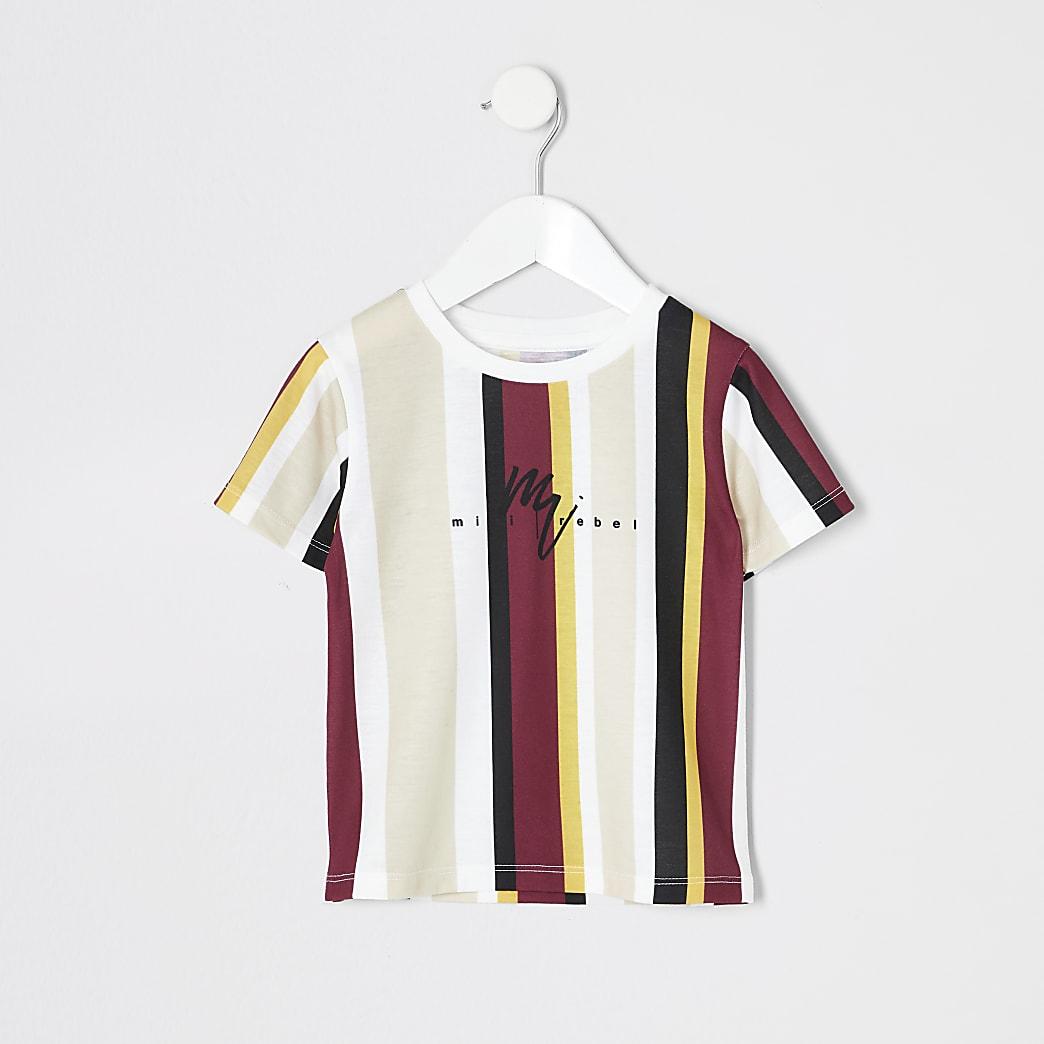 T-shirt jauneà rayuresMini garçon