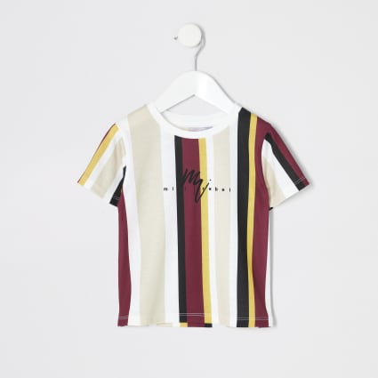 Mini boys yellow stripe T-shirt