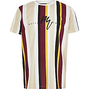 """Gelbes, gestreiftes T-Shirt """"Maison Riviera"""""""