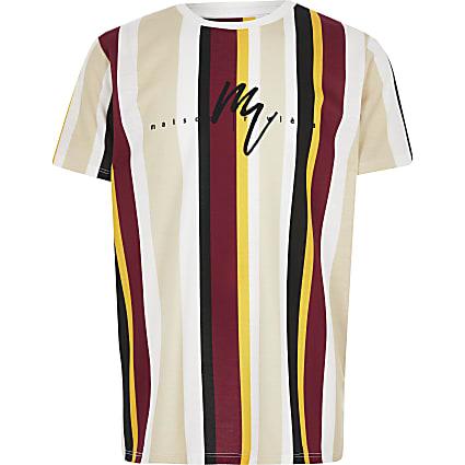 Boys yellow stripe Maison Riviera T-shirt