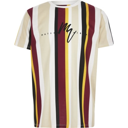 Boys yellow stripe Maison Riviera T-shirt