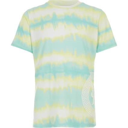 Boys turqouise tie dye T-shirt