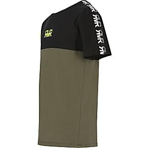 T-shirt kaki colourblock RVR pour garçon