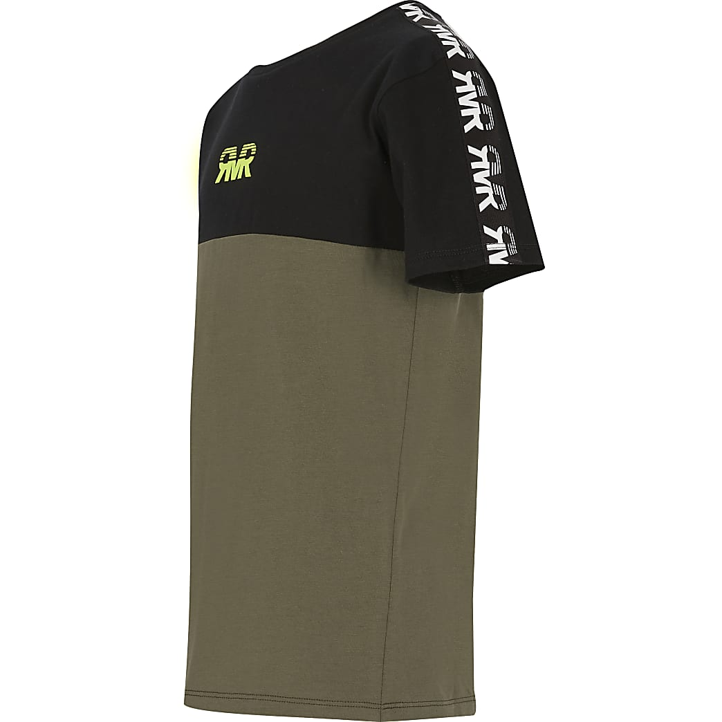 Boys khaki blocked RVR T-shirt
