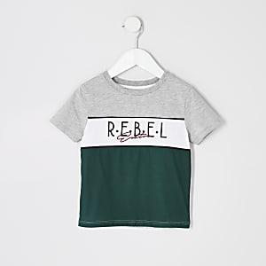 T-shirt gris monobloc Rebel pour garçon