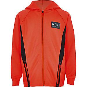 RI Active - Oranje hoodie met rits voor jongens