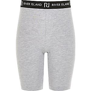 Graue Radler-Shorts mit RI-Bund für Mädchen