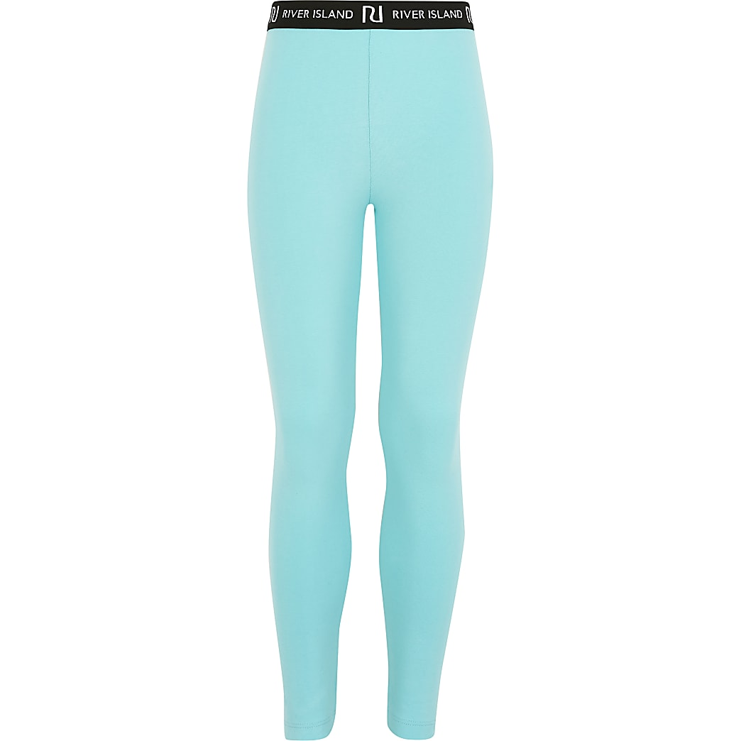 Girls aqua RI leggings