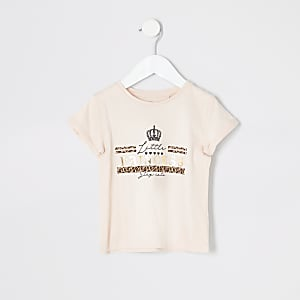 Mini girls pink 'Little princess' T-shirt