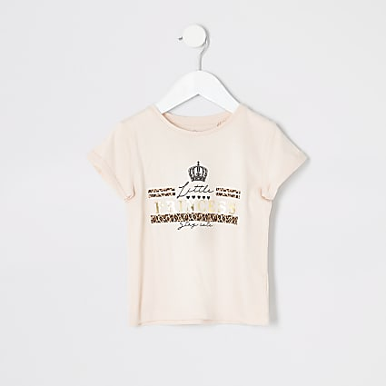 Mini girls pink 'Little princess' T-shirt