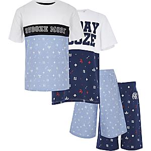 Multipack van blauwe pyjamasetjes voor jongens