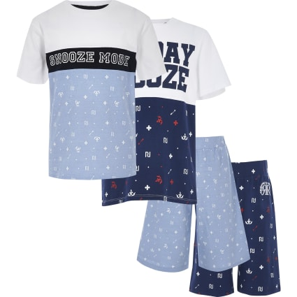 Boys blue snooze set multipack