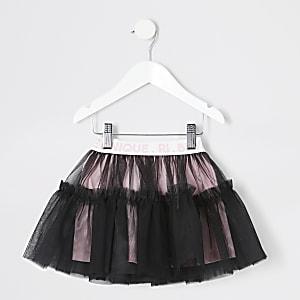 Elastisches RI-Ballettröckchen in Schwarz für kleine Mädchen