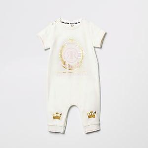 Crèmekleurig rompertje met 'Little princess'-print voor baby's