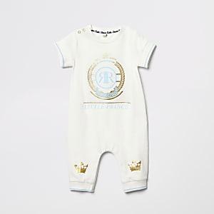 Crèmekleurig rompertje met 'Little prince'-tekst voor baby's