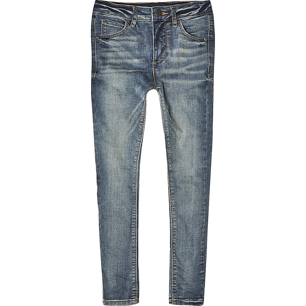 """Blaue """"Ollie-spray-on"""" Skinny Jeans für Jungen"""