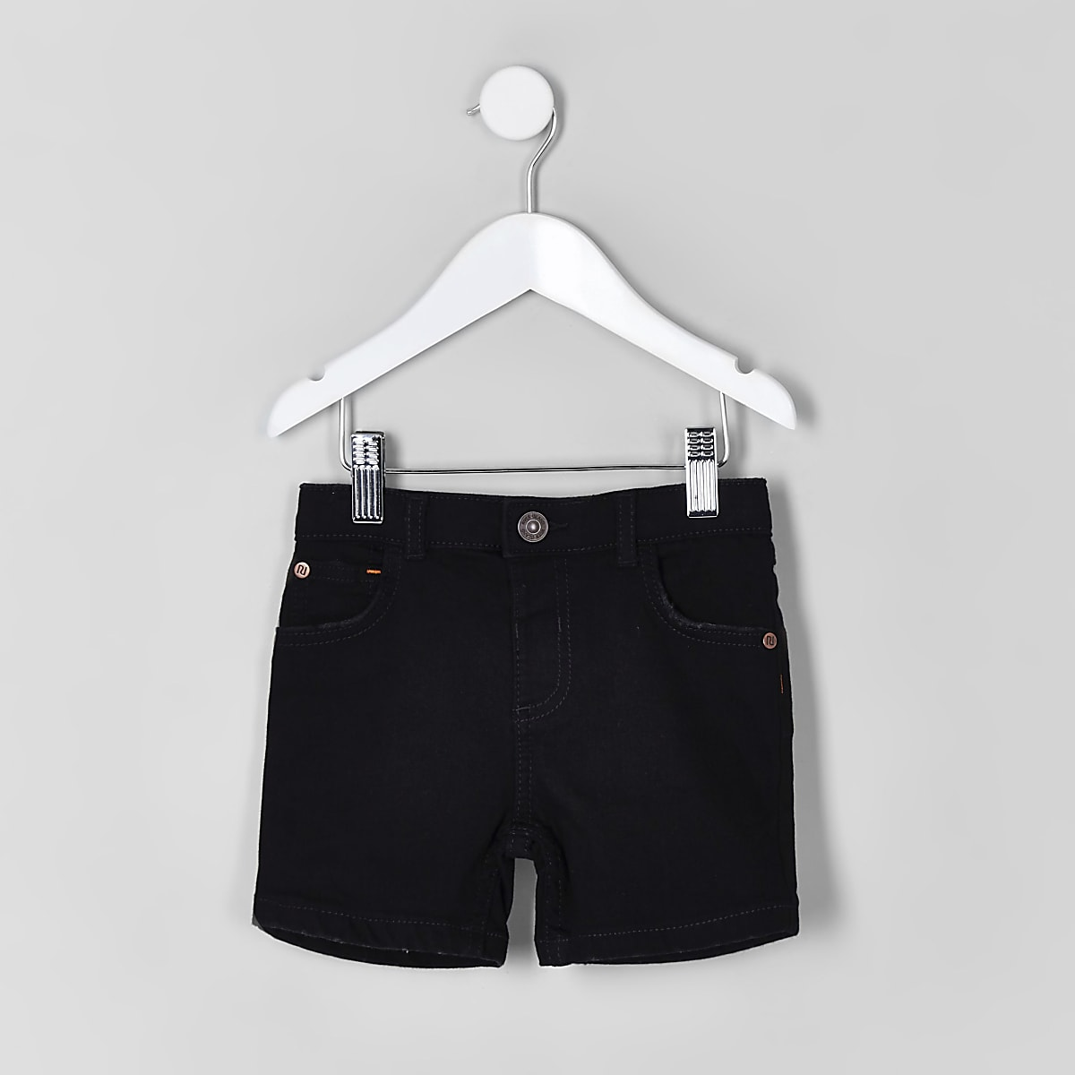 Mini boys black Dylan denim shorts