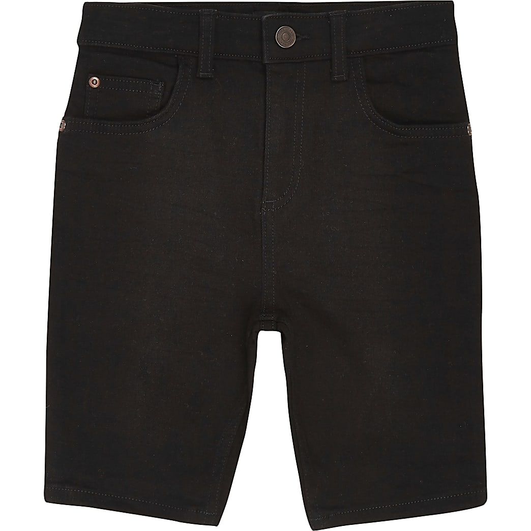 Boys black Sid skinny shorts