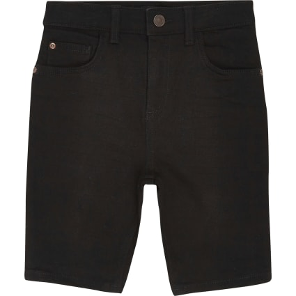 Boys black Sid skinny shorts