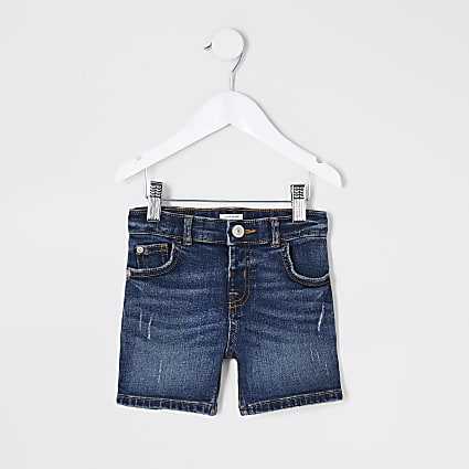 Mini boys blue Dylan denim shorts