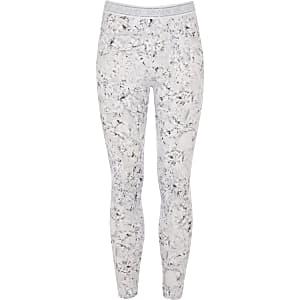 RI Active - Zilverkleurige legging met diamantprint voor meisjes
