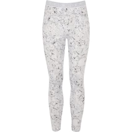 Girls RI Active silver diamond print leggings