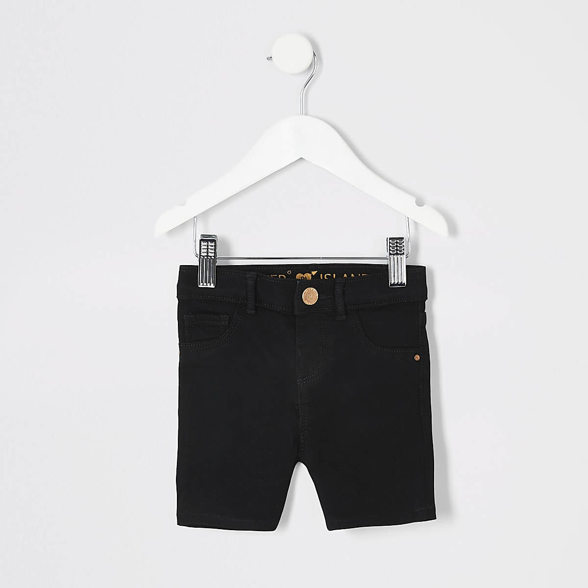 Mini girls black denim cycling shorts
