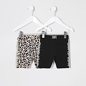 Lot de shorts cyclistes dont un noir pour mini fille