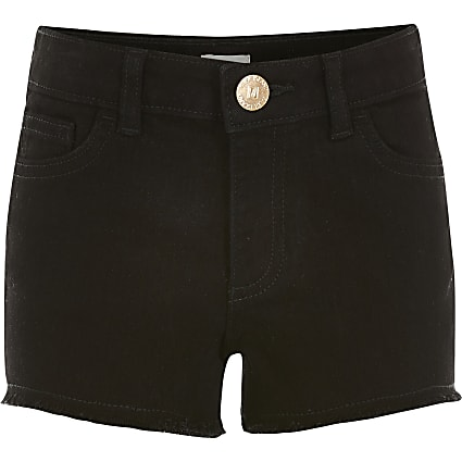 Girls black Becca relaxed shorts
