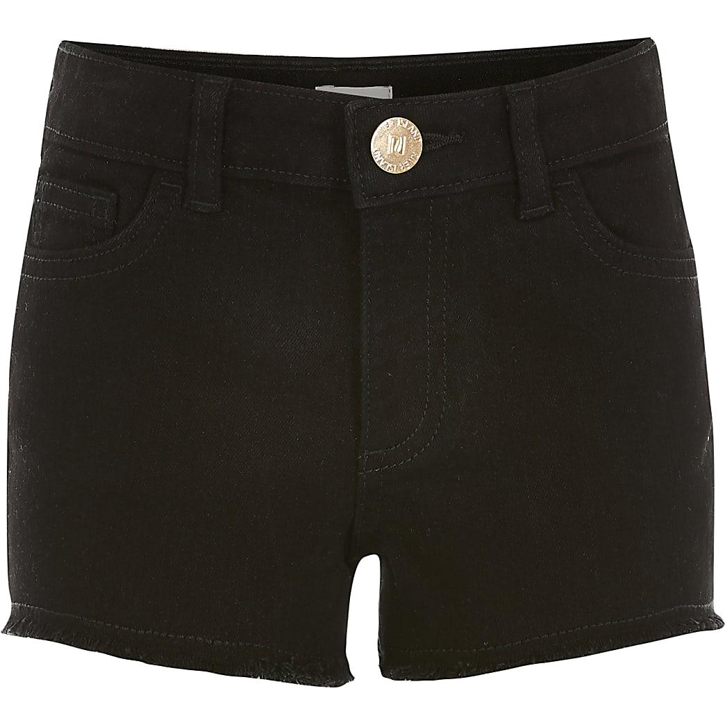 Girls black Becca relaxed shorts