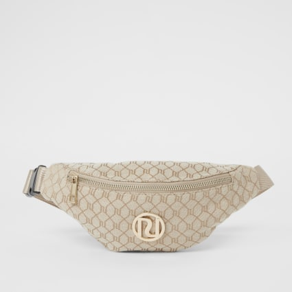 Brown RI monogram jacquard bumbag