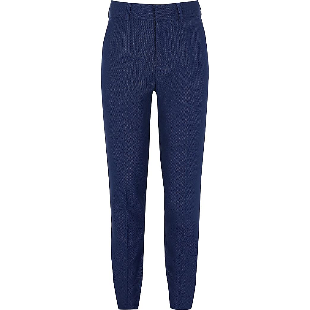 Marineblauwe pantalon met stippenprint voor jongens