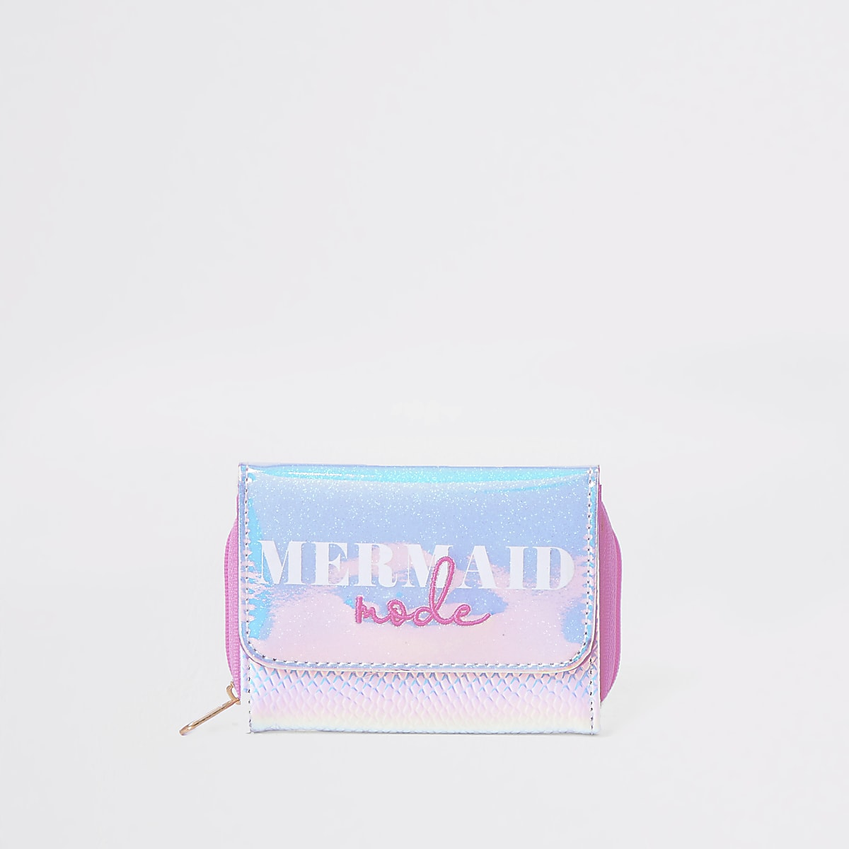 Girls silver mermaid mode trifold purse