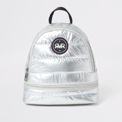 Silver metallic RI padded backpack