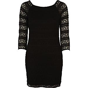 Black lace shift dress
