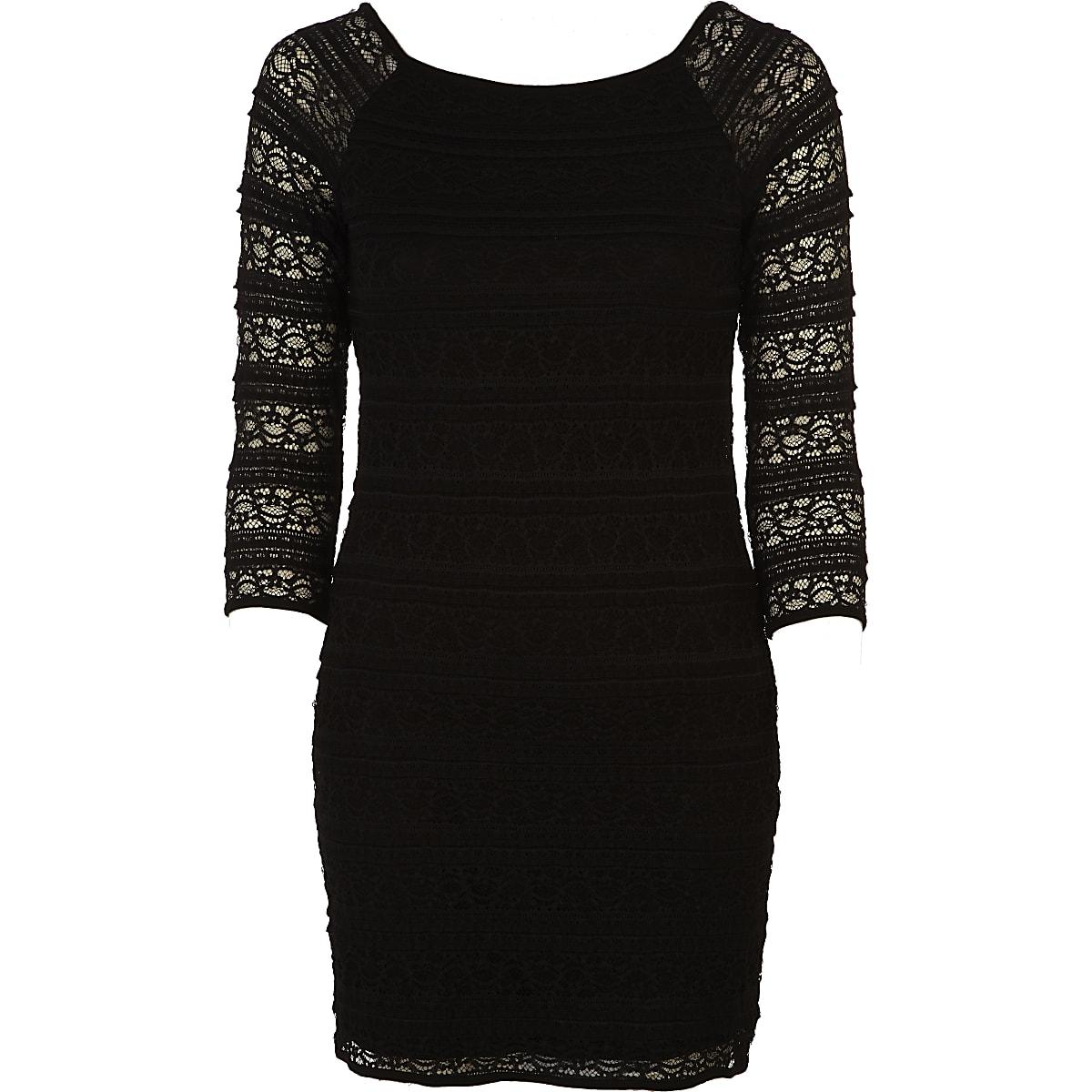 Zwarte kanten jurk