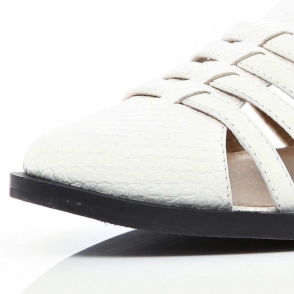 White Snake Closed Gladiator Sandals Toe htsQdr