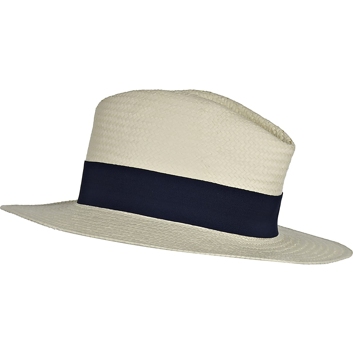 Cream fedora straw hat