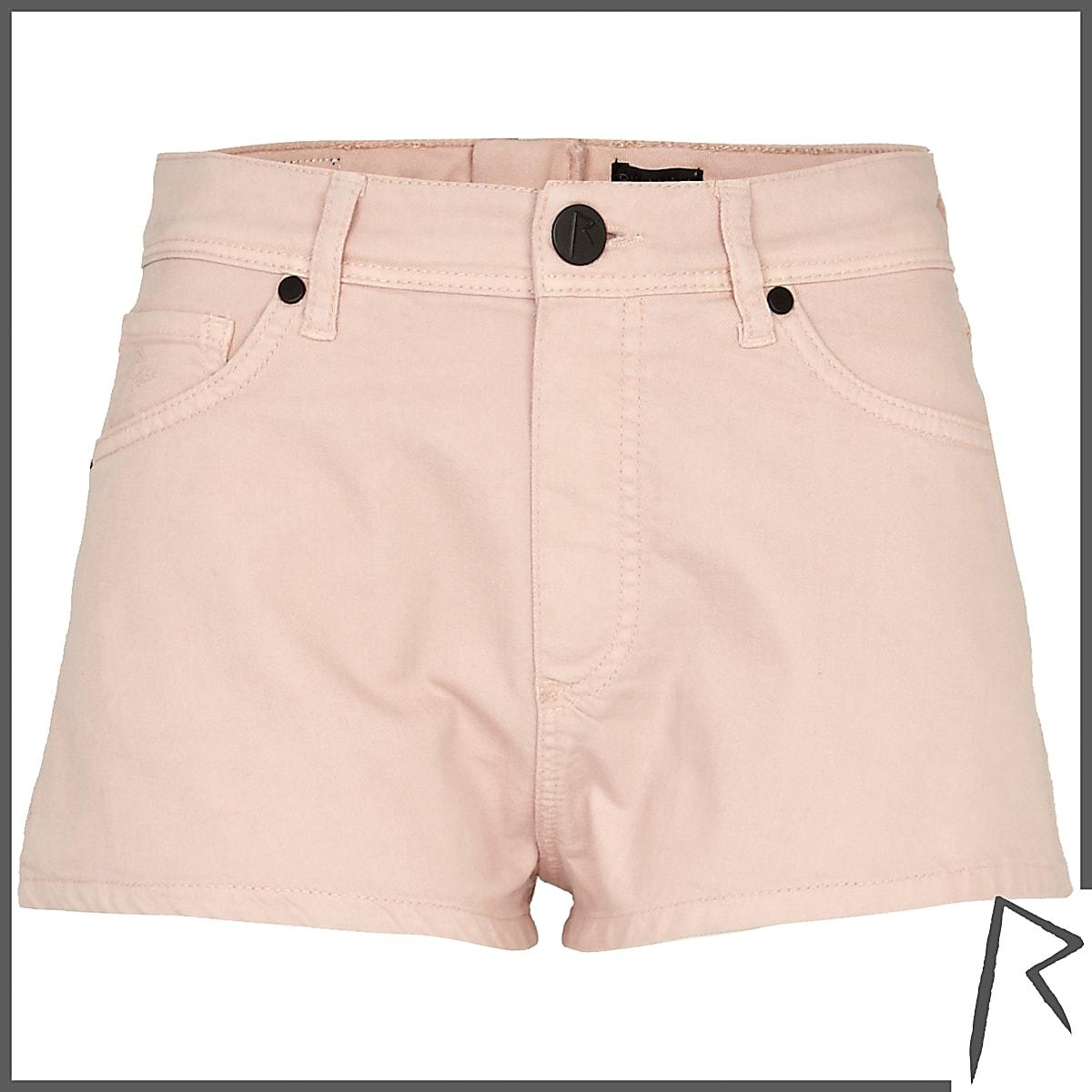 Pink Rihanna zip back knicker shorts