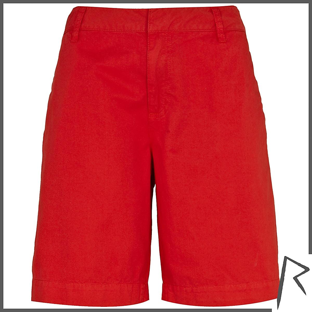 Red Rihanna boy shorts