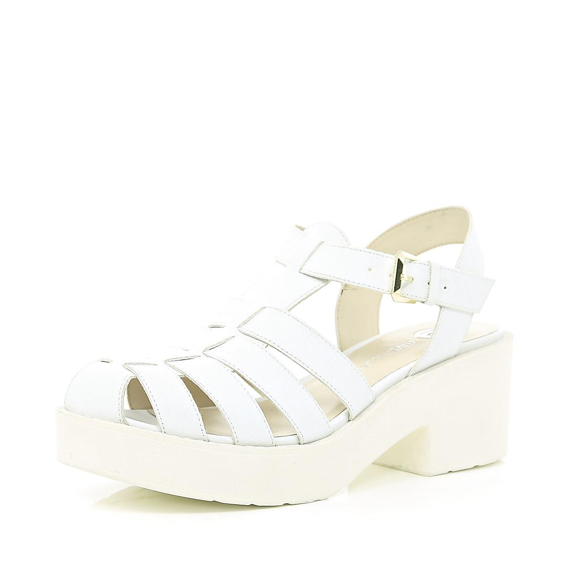 a39d3d3dcaa White block heel gladiator sandals White block heel gladiator sandals ...
