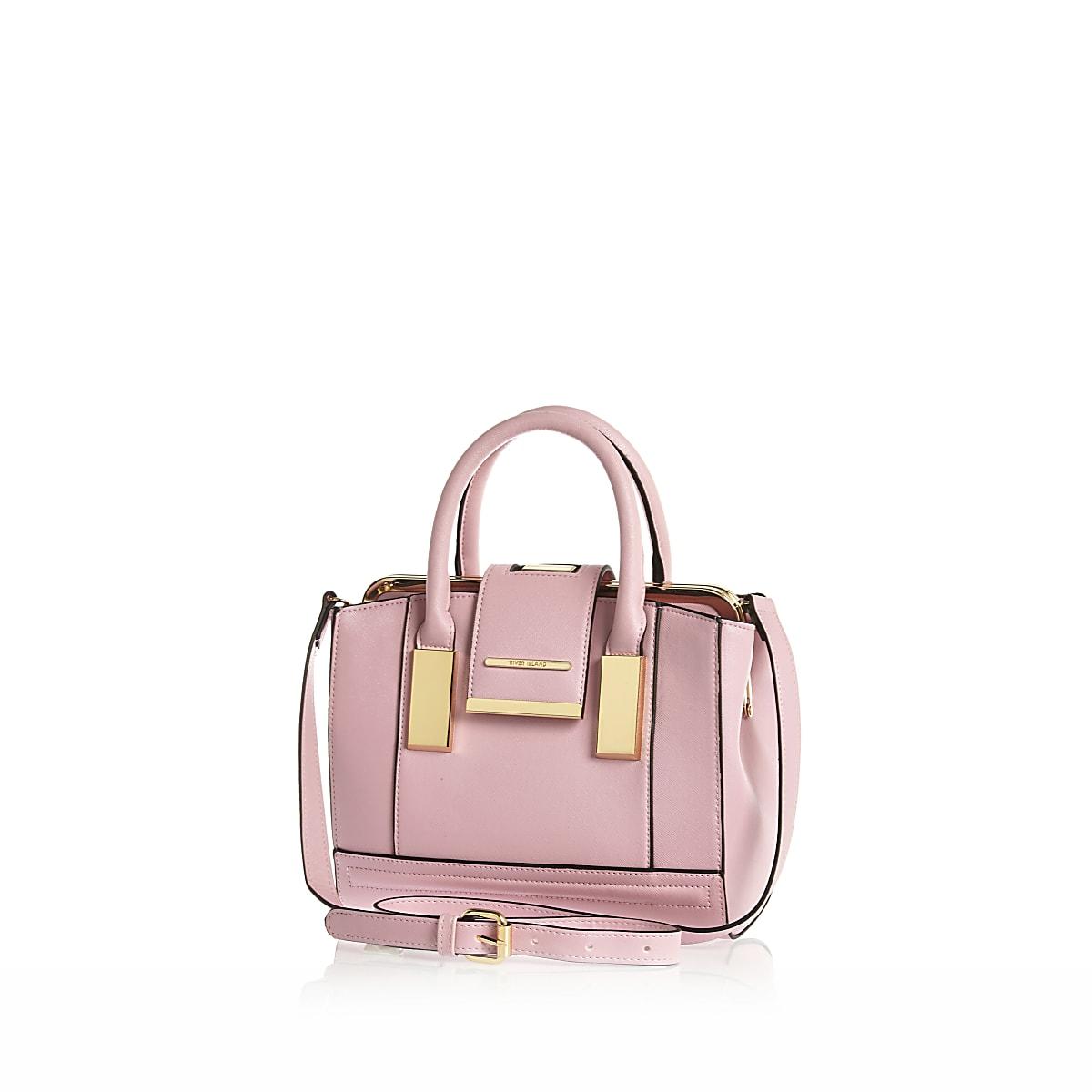 Pink mini frame flap handbag
