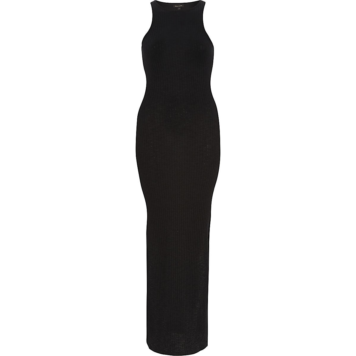 a477eea2 Black ribbed bodycon maxi dress - T-Shirt Dresses - Dresses - women