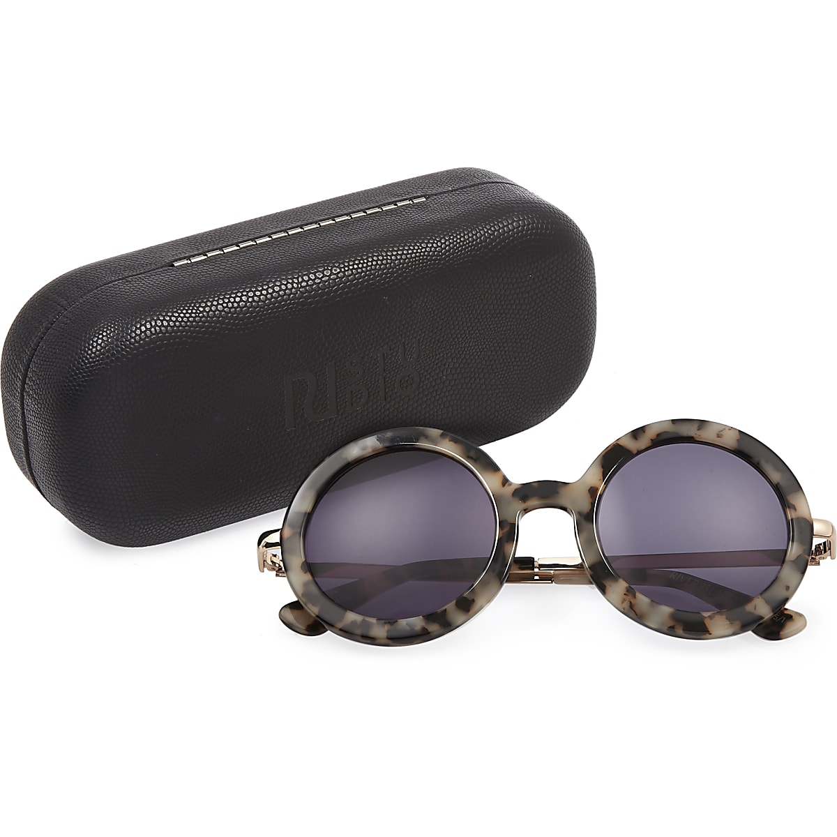 RI Studio cream print round sunglasses